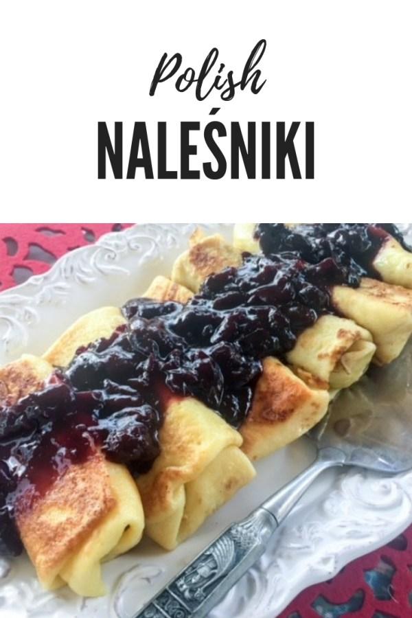 Naleśniki z Serem Polish crepes on a platter