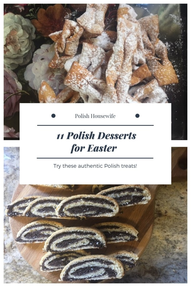 poppy seed roll slices and angel wing cookies