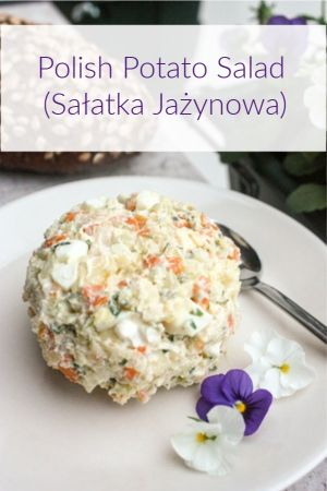 Polish Potato Salad (Salatka Jazynowa) #polishhousewife #polishrecipe #polishfood #potatosalad #polishsalad #salatka