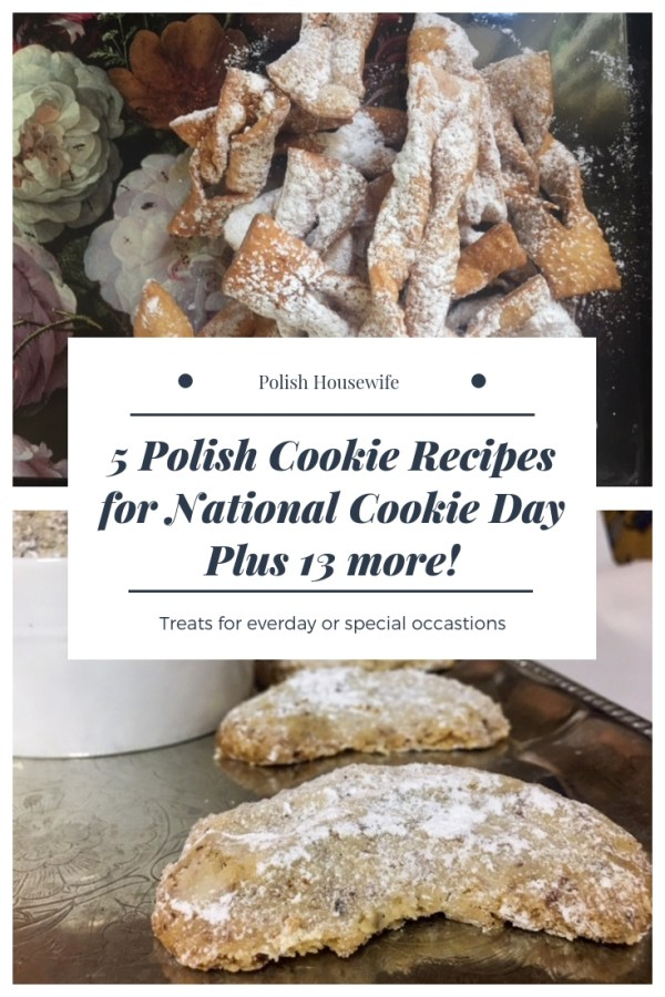 Polish angel wings and almond crescent cookies