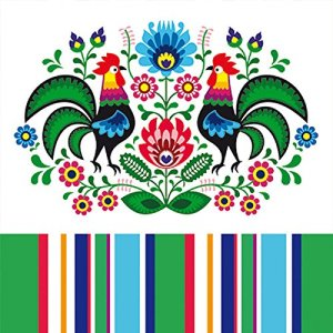 paper napkins with polish folk art design