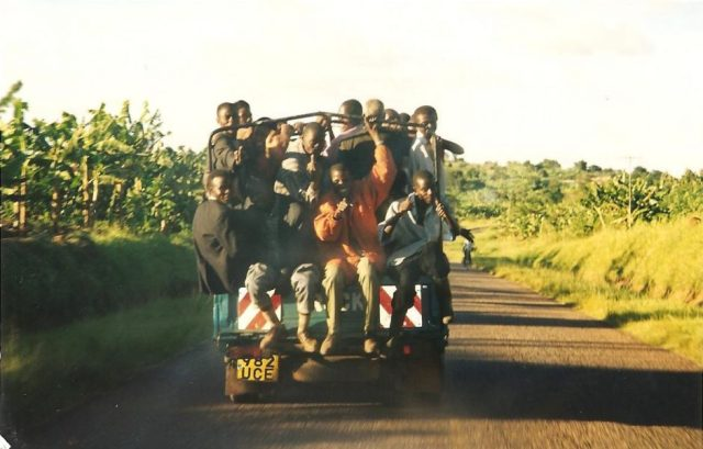 crowded pick up truck in mbale uganda
