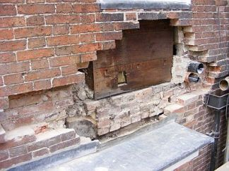 old brickwork removed