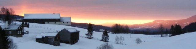 hemsedal in norway sunrise in winter