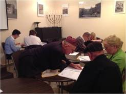 photo: Learning Hebrew reading