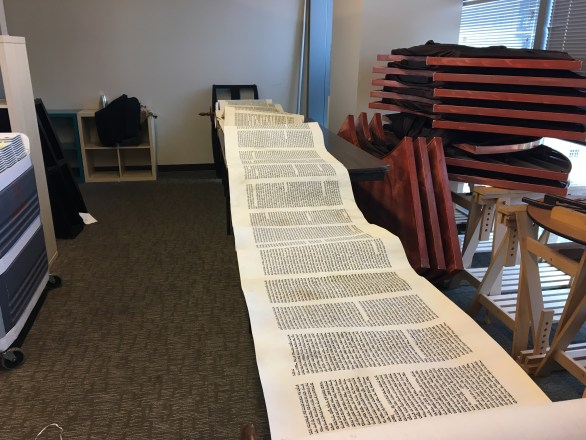 photo: Torah displayed along tables