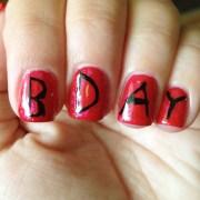 happy birthday nails polish