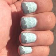 lady gaga nails- day 2 mint green