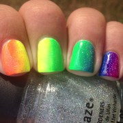 rainbow collab nails polish