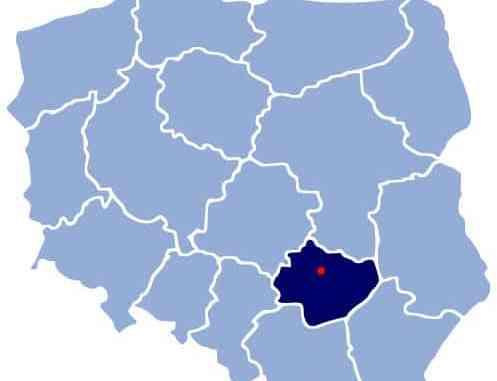 Map of Poland - Kielce