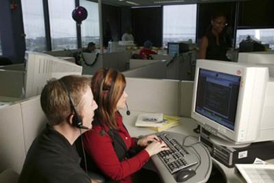AT&T representatives helping customers in language