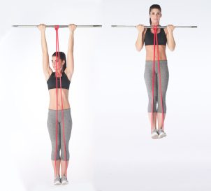 resistance band assisted pull ups