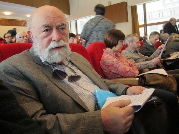 Анатолий Вершик на Конгрессе интеллигенции против войны