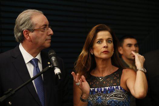 CUNHA1 BSB DF 19/08/2015 NACIONAL EDUARDO CUNHA/CLAUDIA CRUZ O presidente da Camara dos Deputados, Eduardo Cunha ao lado da sua esposa Claudia Cruz, na Camara dos Deputados.FOTO:DIDA SAMPAIO/ESTADAO