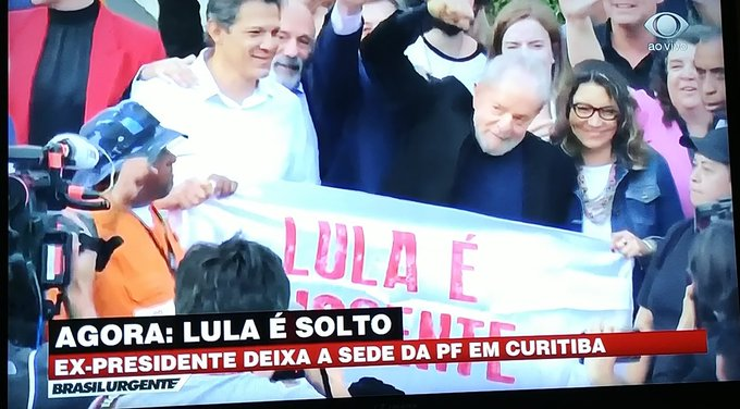 Após decisão da justiça, Lula está livre