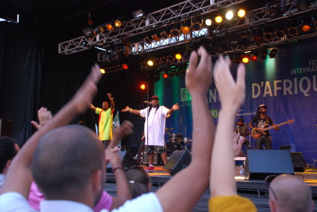 Feeling the Love: Senegalese rapper Didier Awadi at Montreal's Festival International Nuits d'Afrique in the summer of 2013. Will he, and other West African nationals, be welcome in 2015?