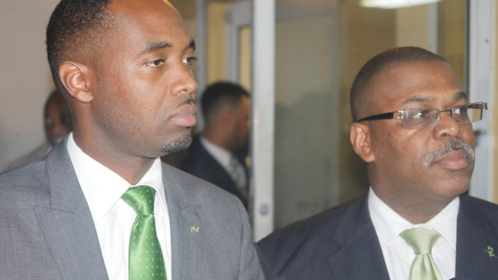 Opposition Leader David Burt and Deputy Leader Walter Roban