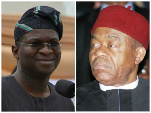Fashola (Lagos) and Theodore Orji (Abia) 2007- 2015