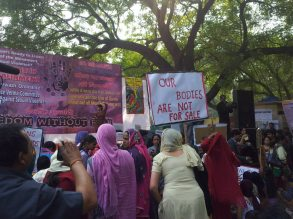 Protest with Placards by various women activists