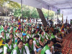 Central and Regional Tibetan Womens Association organize the Tibetans Stand Together in Joy and Sorrow Movement