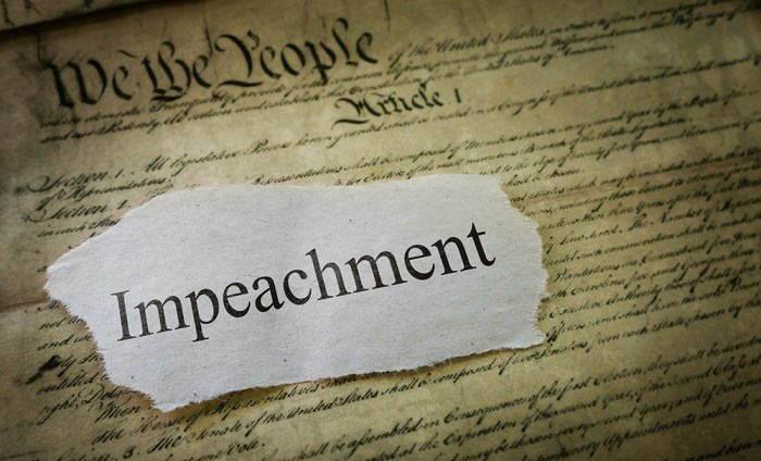 Impeachment news headline