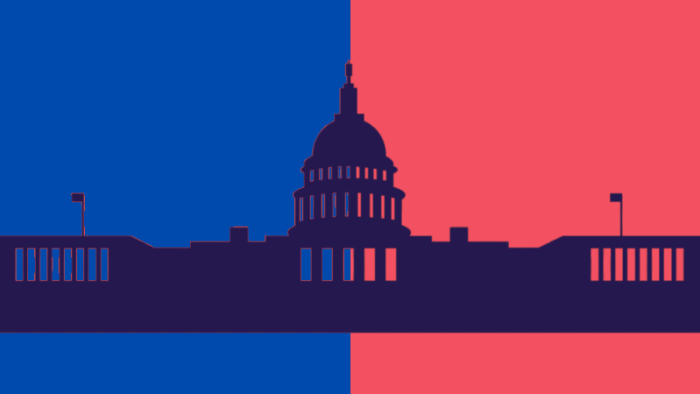 red blue congress