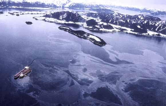 Oil pours into Prince William Sound