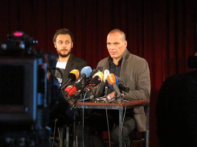 Horvat Varoufakis DiEM press conference