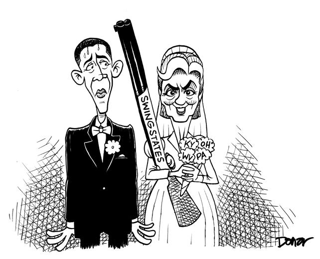 hillary clinton and barack obama in shotgun wedding