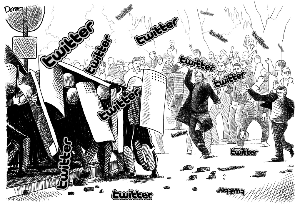 twitter riot cartoon