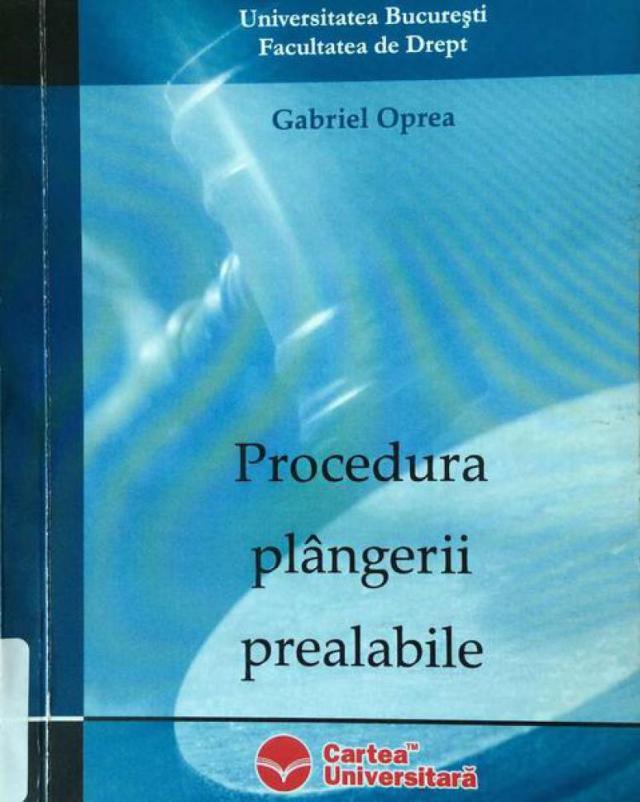 Procedura Plangerii Prealabile Oprea