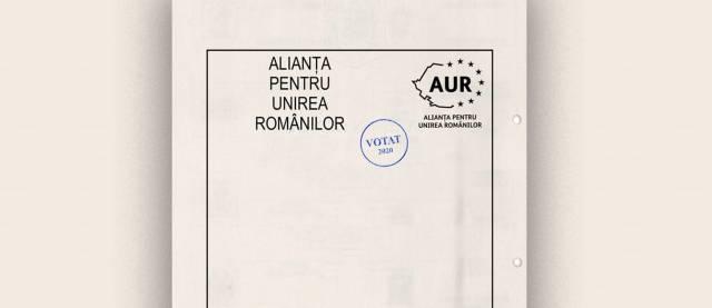 voi vota AUR la alegerile parlamentare din 6 decembrie 2020
