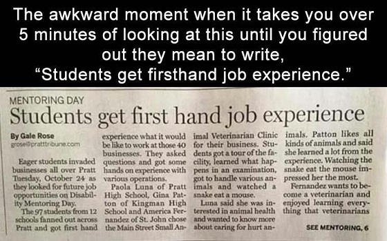 students-first-hand-job-experience-newspaper-ad