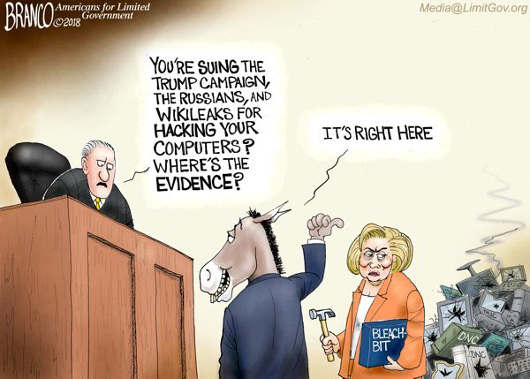 suing-trump-campaign-wheres-your-evidence-bleach-bit-hillary