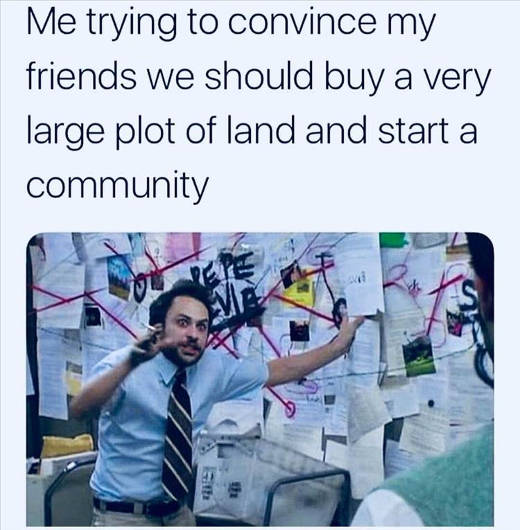 me trying-to-convince-friends-buy-land-start-community