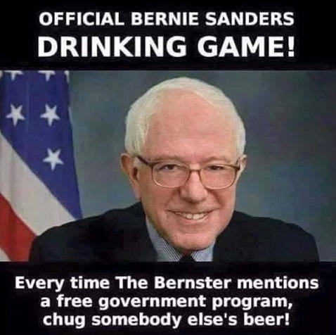 bernie-beer-drinking-game chug someone else's beer