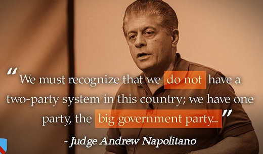 judge- andrew napolitano-we-dont-have-two-party-system-quote