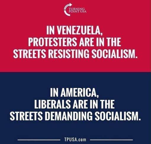venezuela-protestors-resisting-socialism-america-liberals-demanding-it