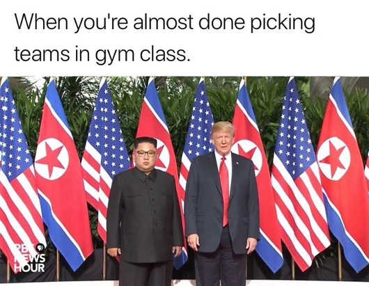 when-youre-almost-done-picking-teams-gym-class-trump-kim-jong-un