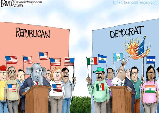 where-do-you-stand-republican-democrat-flags