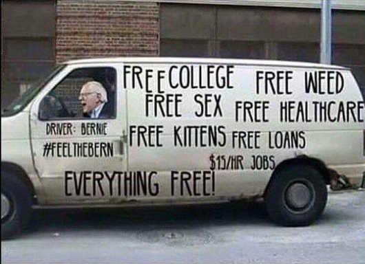 bernie-sanders-driving-van-free-college-healthcare-loans-everything