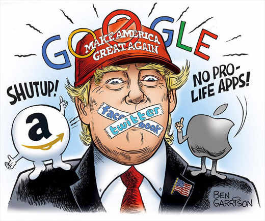 google-twitter-amazon-facebook-shut-up-trump