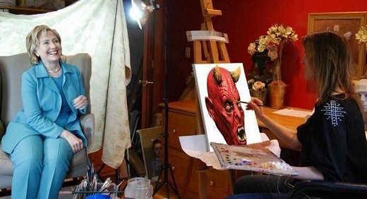 hillary-clinton-portrait-devil-painter