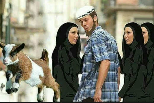 muslim-turned-on-by-goat-ignoring-girls-in-burqas