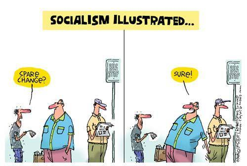 socialism-illustrated-spare-change-sure-reach-into-neighbors-pocket