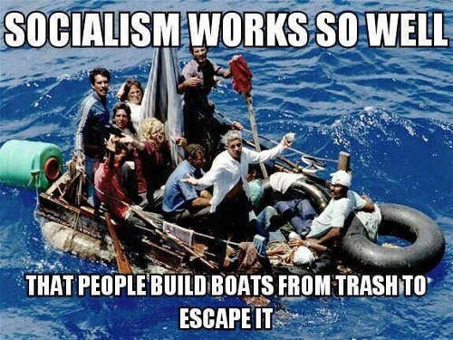 socialism-works-so-well-people-build-boats-from-trash-to-escape-it