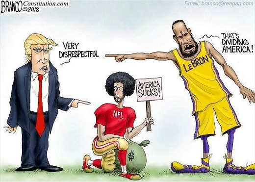 trump-very-disrespectful-kaepernick-america-sucks-lebron-dividing-america