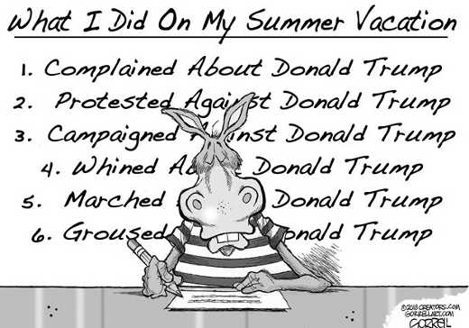 what-i-did-on-my-summer-vacation-complained-protested-whined-against-trump