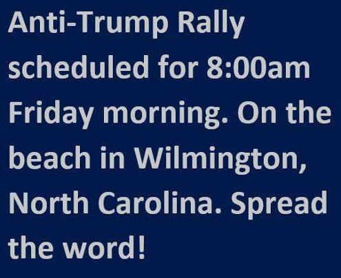 anti-trump-rally-wilmington-beach-spread-the-word
