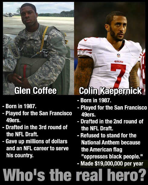 army-soldier-vs-colin-kaepernick-who-is-real-hero-millions-glen-coffee